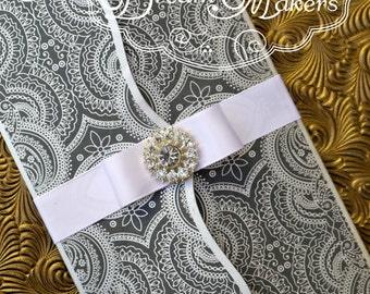Modern Damask Invitation (Arab)