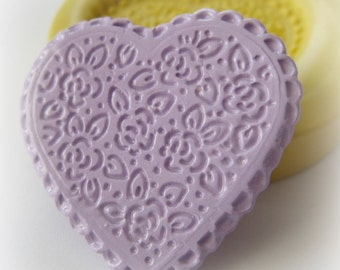 Flower Heart Mold Silicone Soap Clay Resin Mould