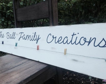 Kids art display, childs artwork sign, personalized masterpieces board, custom wood sign, child artwork hanger, Every child is an artist