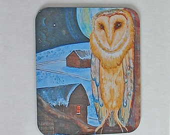 Mousepad Owl Night Guardian 3