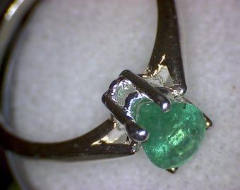Beautiful Pear Zambian Emerald Ring