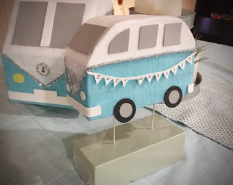 VW Bus Pinata and Cake Topper - ready to ship