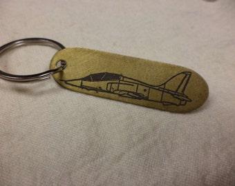 T-45 Etched Brass Keychain