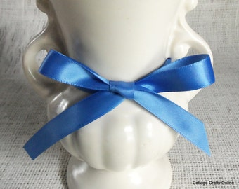 "Satin Ribbon, 5/8"" wide, Double Face Blue - 100 YARD ROLL - Offray Double Sided Satin No. 3 ""True Blue #373"" Sewing Trim"