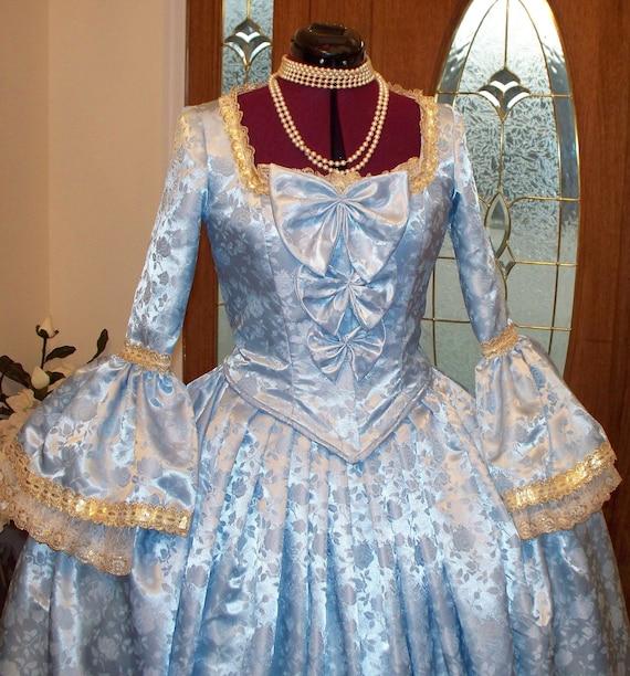 Marie Antoinette Dress Costume, Marie Antoinette Panniers, Marie Antoinette Dress, 18th Century Costume, Marie Antoinette Panniers & Dress