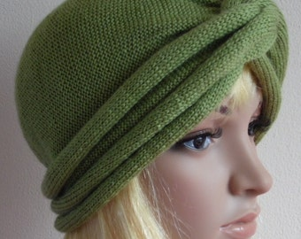 Knit turban hat for women, twisted turban, handmade turban, winter hat for women, fashion women's turban, made from acrylic