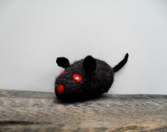 Cat toy Catnip vampire rat,  needle felted
