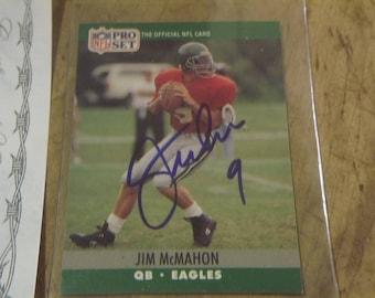 1990 Pro Set Jim McManhon signed #610 card