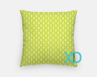 Green Target Pillow, Bullseye Pillow Cover, Lime Pillow Case, Green Pillow, Artistic Design, Home Decor, Decorative Pillow Case, Sham