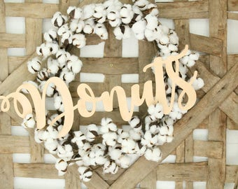 Donuts Wall Sign Donut Table Sign Gold Donut Sign Silver Donut Sign