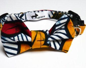 Dog - wedding flower + bow tie collar