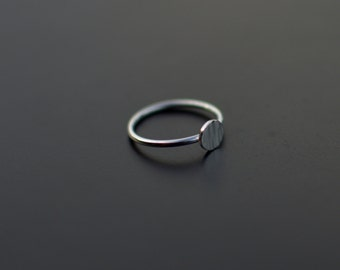 Sterling Silver Ring, Circle Ring, Textured, Circle, Modern, Contemporary, Minimal