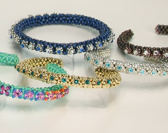 Kit Crown Cuff OR Bangle 2.0 featuring Crystaletts