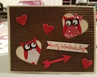 Stamping up owl vday card