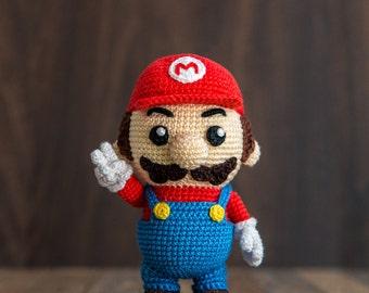 """Crochet Pattern of Mario from """"Super Mario Bros."""" (Amigurumi tutorial PDF file)"""