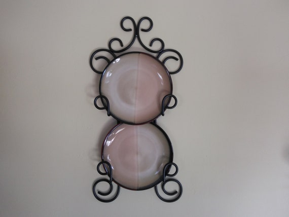 Metal plate rack plate holder plate hanger plate display