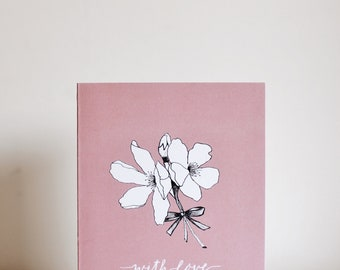 With Love Card - Cherry blossoms