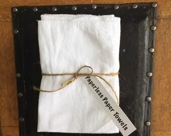 Paperless Paper Towels. Reusable Paper Towels. 100% Cotton Natural Fiber Un-Paper Towels. Cloth Paper Towels. Paperless Towels
