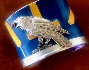 California Raven License Plate Cuff