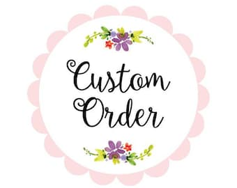 Custom Cake Topper! Just write your message, choose size  and color!
