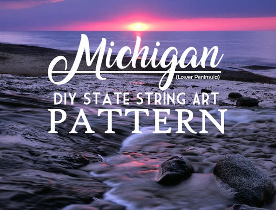 Michigan diy state string art pattern 10 x 8 hearts stars michigan diy state string art pattern 10 x 8 hearts stars included from ninered on etsy studio freerunsca Images