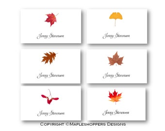 Printable Leaf Place Card On Apples Pears Editable Name Tag - Name place cards template