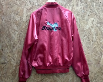 Vintage varsity jacket Snap On / embroidered logo & Spellout