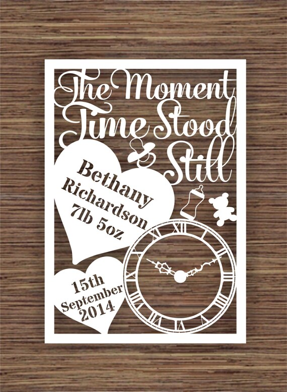 The Moment Time Stood Still For New Baby Pdf Svg Commercial