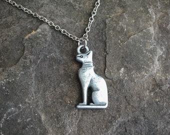 Sakhmet Necklace, Egyptian Cat, Egyptian Necklace, Cat Necklace, Egyptian Jewelry, Sakhmet Necklace, Egyptian, Gift for Cat Lover, Cat Lover