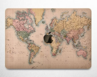 World map vinyl etsy map of the world macbook pro 15 inch macbook travel decal macbook air 13 cover pro gumiabroncs Images