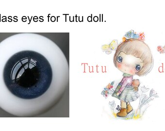 Tutu's Glass bjd eyes ,dark blue.