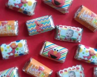 Elmo Miniature Candy Bar Wrappers