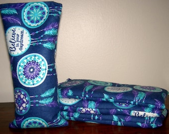 Lavender or Balsam Fir Aromatherapy or Unscented Eye Pillow in Believe Dream Catcher Flannel