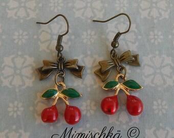 earrings cherry