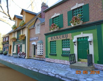 4 Miniature Irish Shops on the street. Available now...