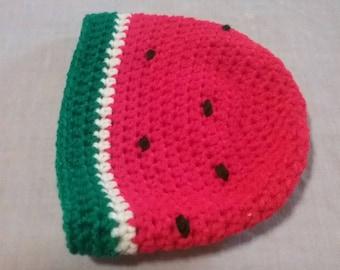 Watermelon crochet hat beanie