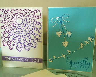 Handmade Thinking of you & Especially for you Cards