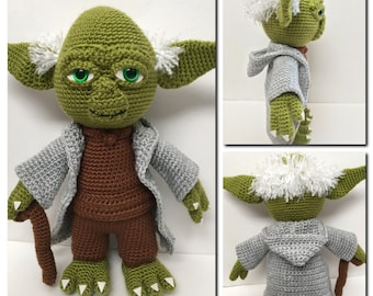 CROCHET PATTERN: Yoda the Wise One