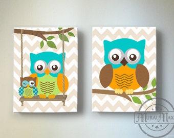 baby boy room decor owl decor boys wall art owl canvas rh etsy com Owl Wall Decor Owl Wall Decor
