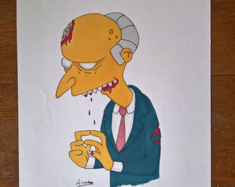ORIGINAL Zombie Mr. Burns