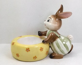 Goebel porcelain egg door or candle cm 12 x 9 h