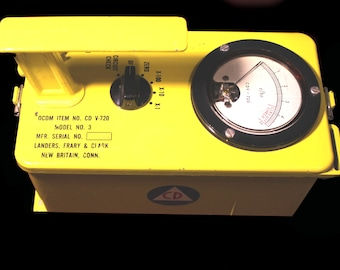Vintage Civil Defense  Radiation Detector - Cool CD Item from the Cold War Era - DUCK & COVER!!