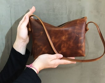 Real leather Party bag, pocket, small shoulder bag, leather clutch