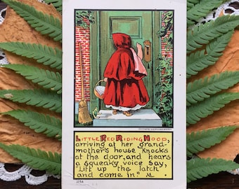 Antique Little Red Riding Hood Postcard 1907
