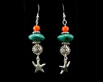 Handmade Lampwork Bead Earrings Handcrafted Wearable Art Jewelry