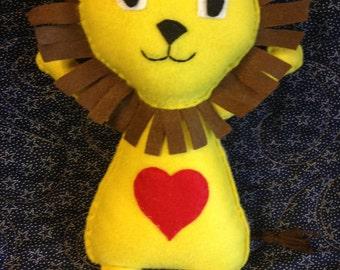 Felt Lion Doll