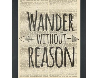 Travel Wander without reason Dictionary Art Print