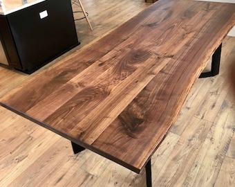 Live Edge Table, Wood Slab For Dining Or Conference Table, Black Walnut  Slab, Maple Slab, Oak Slab, Monkey Pod Slab, Purple Heart Slab