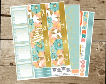 8.5x11 Monthly Kit: May 2017-- Tiffany(for use in 8.5x11 Erin Condren Deluxe Monthly Planner)
