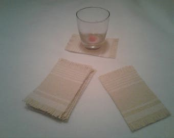 Cotton Rug Coasters set of 6
